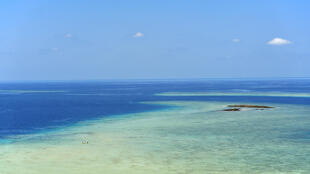 Vue du lagon de Mayotte.