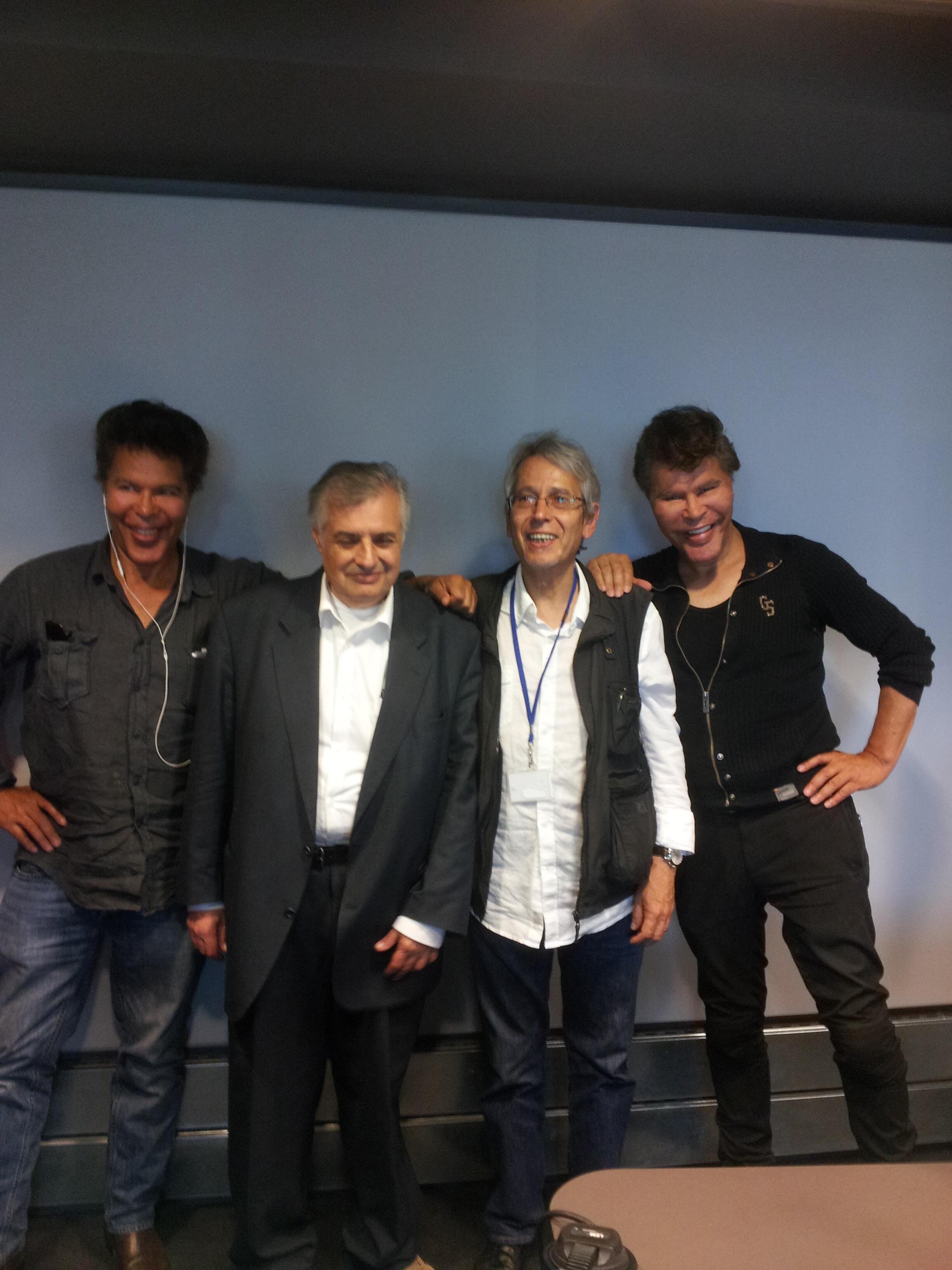 Les frères Bogdanov, Luis Gonzalez Mestres et Jean-Yves Casgha