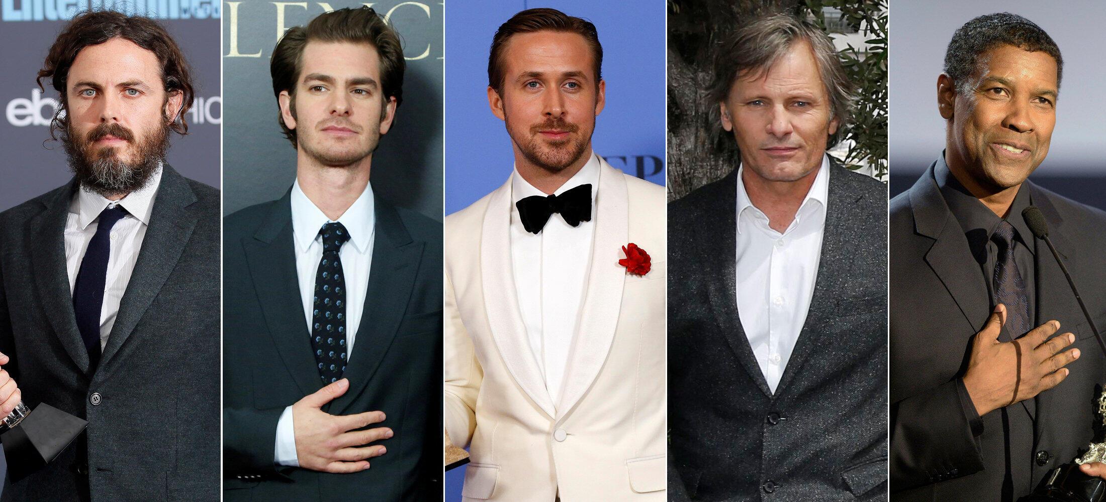 Casey Affleck, Andrew Garfield, Ryan Gosling, Viggo Mortensen e Denzel Washington