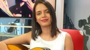 María Cristina Plata en los estudios de RFI