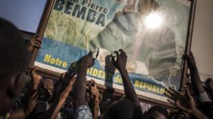 Scène de liesse à Kinshasa après l'annonce de l'acquittement de Jean-Pierre Bemba, le 8 juin 2018.