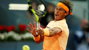 World number 5 Rafael Nadal in action at Madrid Masters.