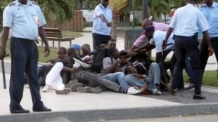 Rassemblement de jeunes à Luanda, Angola, le 27 mai 2013.