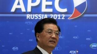 Le président chinois Hu Jintao au sommet de l'APEC, le samedi 8 septembre 2012.