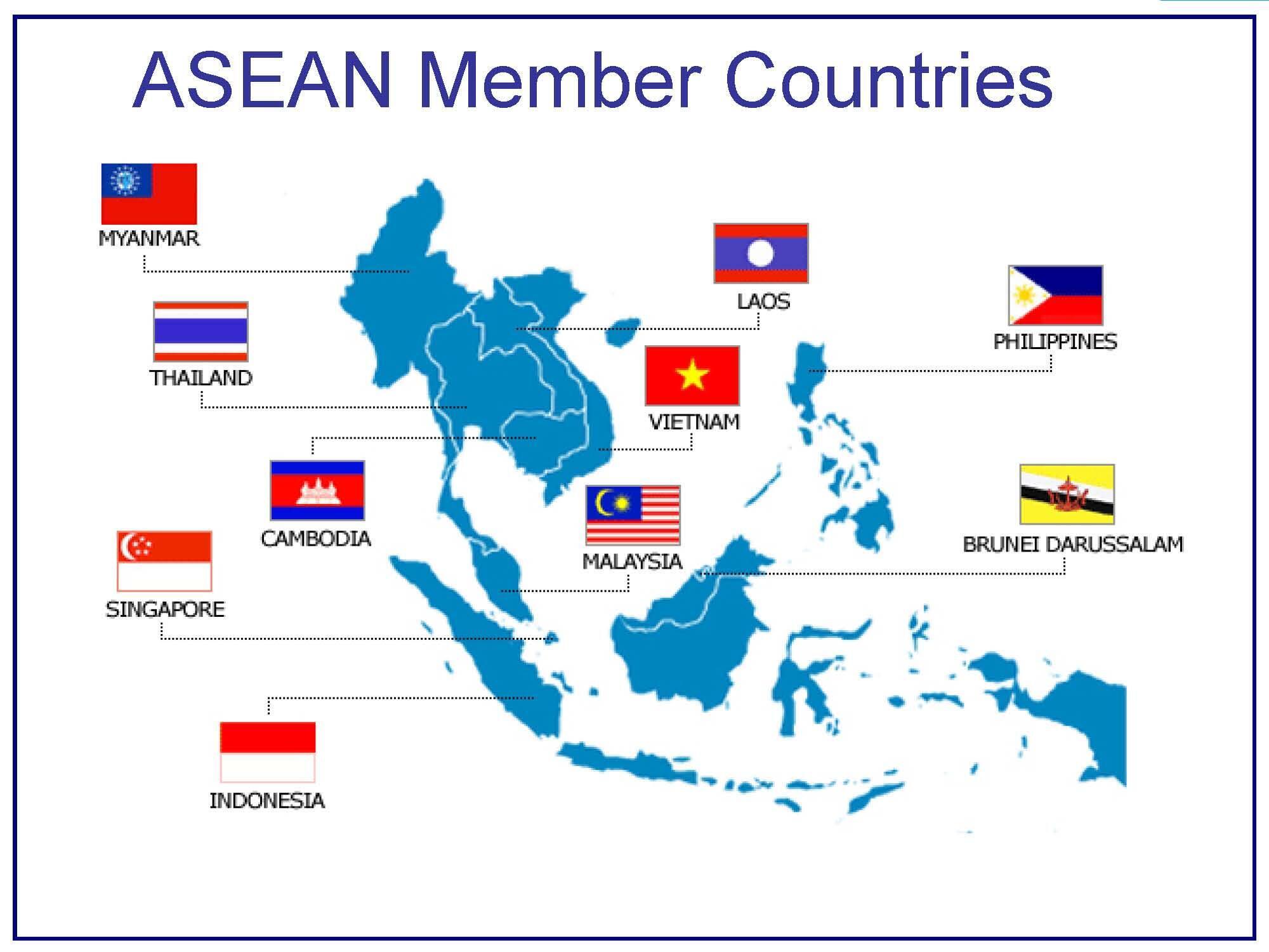 Bản đồ các thành viên ASEAN