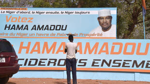 Photo prise le 27 février 2016 dans les rues de Niamey. A quelques jours du second tour de l'élection présidentielle, l'opposition a décidé de suspendre sa participation au processus électoral.