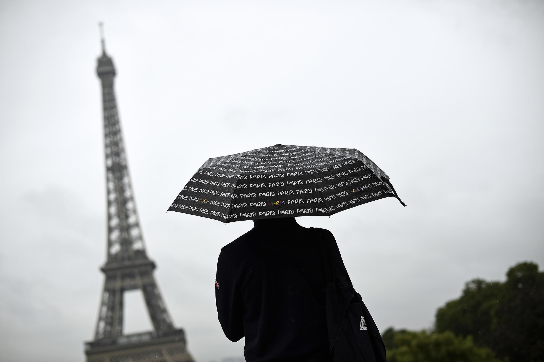 Quảng trường Nhân Quyền, Paris, dưới trời mưa (Ảnh chụp ngày 05/03/2017)