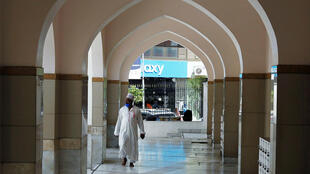 An official walks along the corridors inside the Jamia Mosque as it is closed during the imposition of religious restrictions by the government to prevent the spread of the coronavirus disease (COVID-19), during the holy fasting month of Ramadan in downtown Nairobi, Kenya April 24, 2020.
