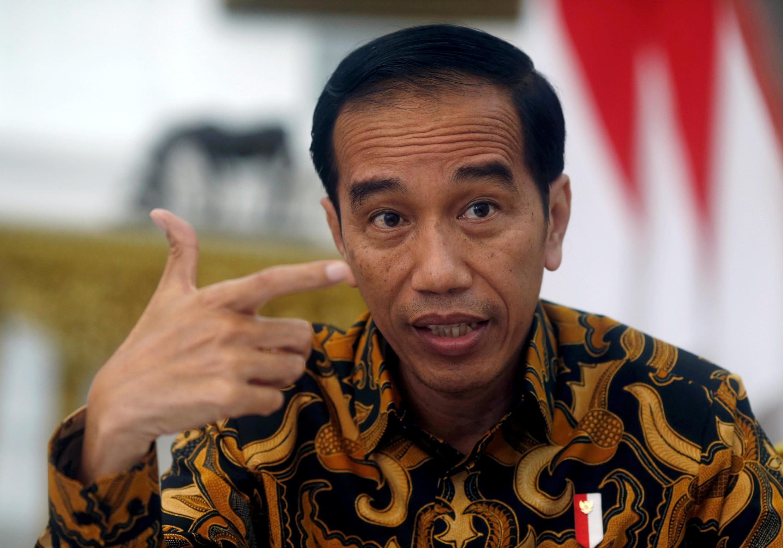 Le président indonésien Joko Widodo, lors d'une interview à l'agence Reuters à Jakarta, le 3 juillet 2017. (Photo d'illustration)