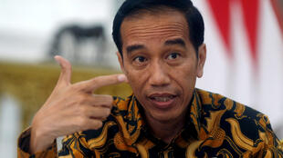 Le président indonésien Joko Widodo, lors d'une interview à l'agence Reuters à Jakarta, le 3 juillet 2017. (Photo d'illustration)