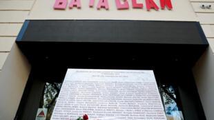 Cérémonie de commémoration pour les victimes du 13-Novembre au Bataclan, en 2018.