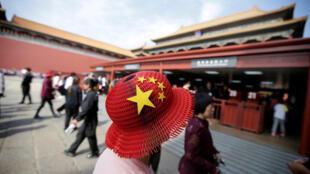 国庆日在故宫参观的游客,2017年10月1号