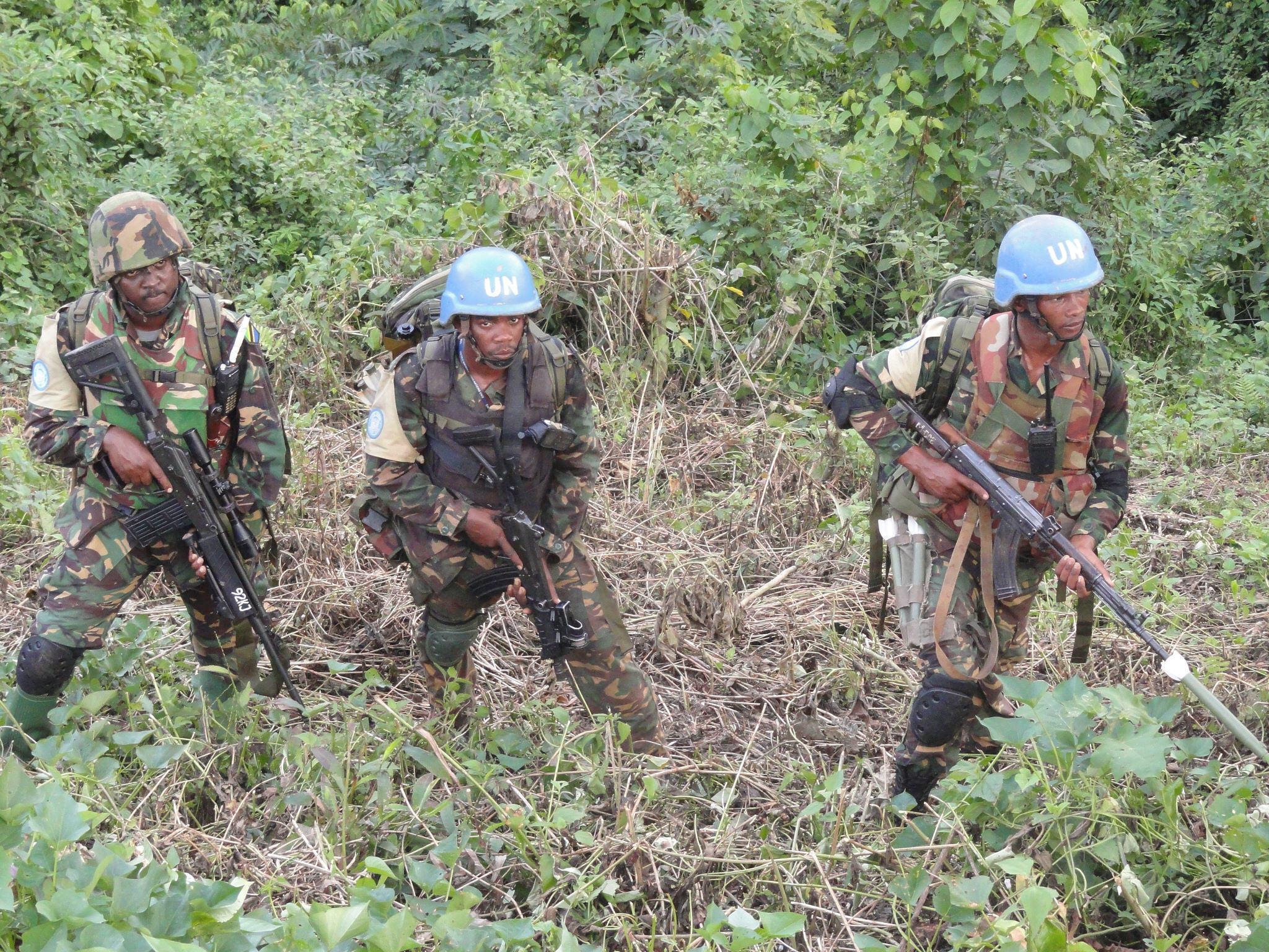 Wanajeshi wa kulinda amani wanaopambana na waasi wa ADF Mashariki mwa DRC