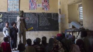 Une classe d'école à Tombouctou, en février 2013.