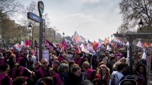 Manifestación contra las reformas del gobierno en el sector público, el pasado 28 de marzo de 2019. Foto de ilustración.