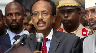 Rais wa Somalia Mohamed Abdullahi Farmajo, february 8 2017.