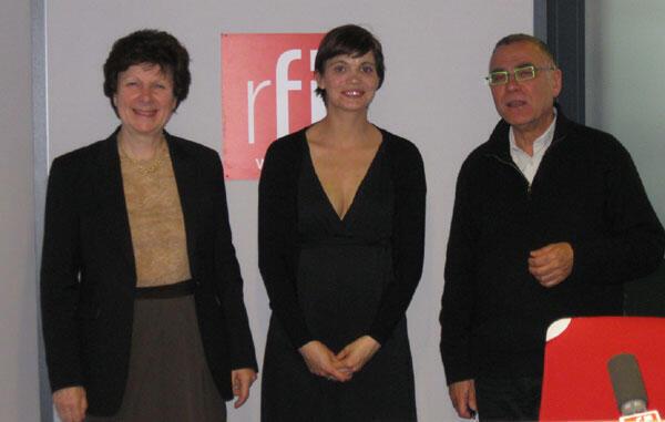 Anne de Tinguy, Olga Kokorina et Daniel Desesquelle © Hanane Saïdani