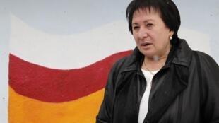 Одна из кандидатов на пост президента Южной Осетии Алла Джиоева. Цхинвали 13/11/2011