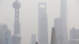 Thượng Hải trong sương mù.Ảnh ngày 17/11/2014