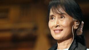 លោកស្រី Aung San Suu Kyi ជ័យលាភីរង្វាន់ណូបែលសន្តិភាពប្រមុខបក្សប្រឆាំងភូមា