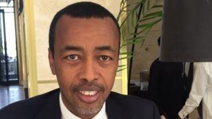 L'ambassadeur djiboutien Mohamed Idriss Farah, président du Conseil paix et sécurité de l'Union africaine, co-dirige la délégation de l'UA à Ndjamena. 02-05-2021.