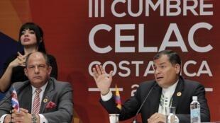 Rafael Correa, dirigente ecuatoriano, se convirtió en presidente de turno de la CELAC.