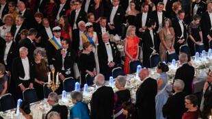 La dernière cérémonie de remise du prix Nobel de littérature, le 10 décembre 2017, à Stockholm (Suède).