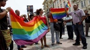 Игнасио Эстрада во время гей-парада в Гаване 28 июня 2011