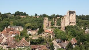 Le village de Hérisson, dans l'Allier, en France