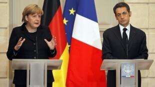 Alfredo Valladão comenta a 'germanofobia' que tomou conta da França, com a crise do Euro. Na foto, a chanceler alemã Angela Merkel e o presidente francês Nicolas Sarkozy.