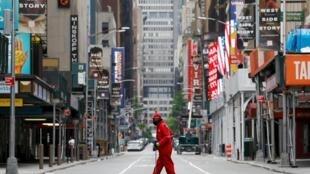 Les rues de Manhattan complètement vides pendant la pandémie de coronavirus le 24 mai 2020.