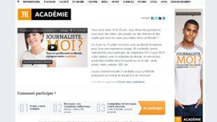 Site du Monde Académie.