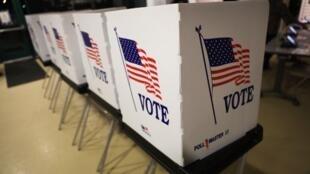 Recinto de votação nos Estados Unidos.
