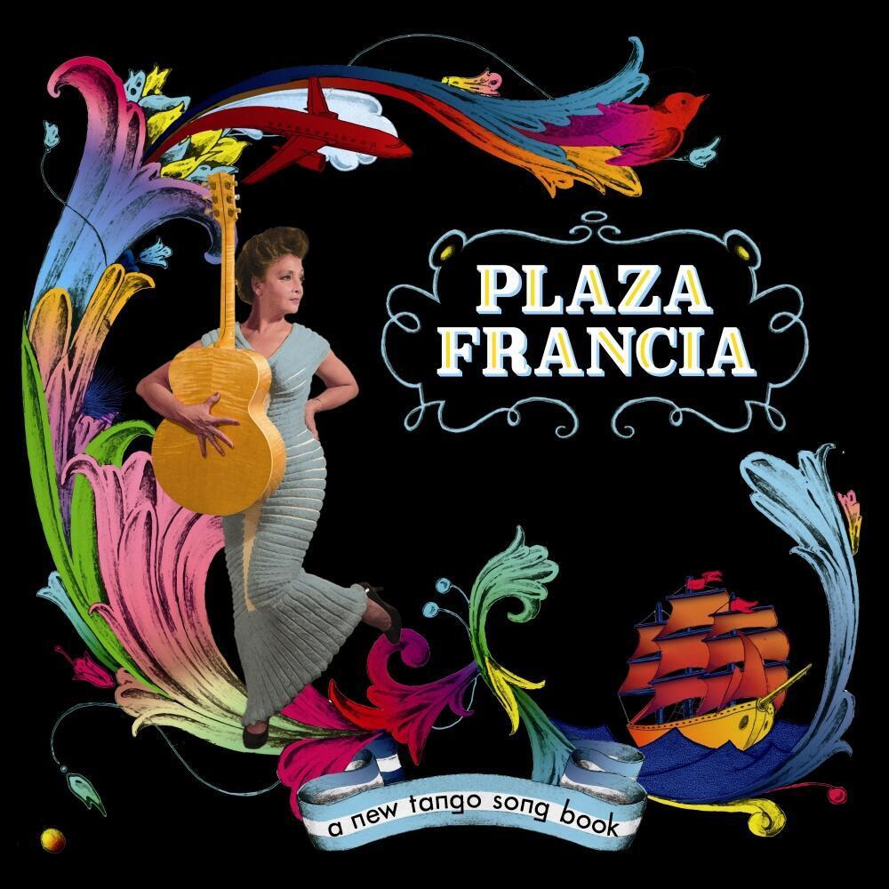 "Portada del primer disco de Plaza Francia, ""A new tango  song book""."