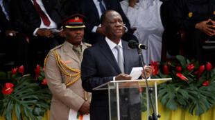 Le président ivoirien, ici à Accra au Ghana, le 7 janvier 2017.