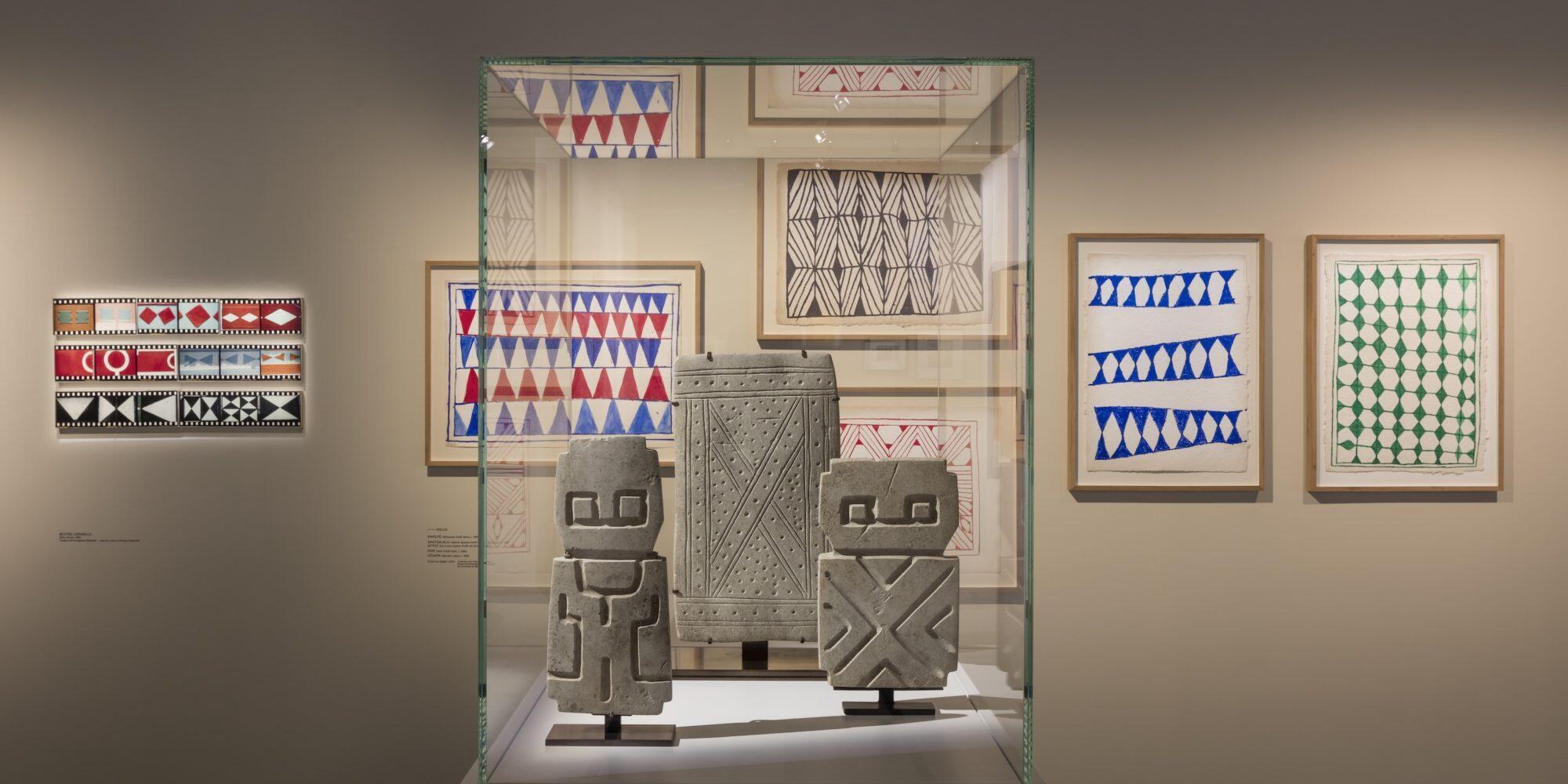 卡地亞基金會舉辦的南美幾何圖形藝術展,2019年2月。