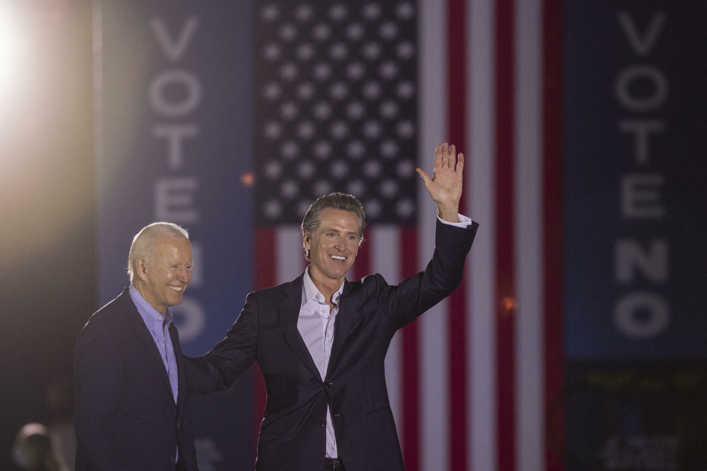 Joe Biden et Gavin Newsom