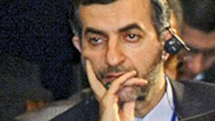 O conselheiro-chefe e aliado de Ahmadinejad, Esfandiar Rahim Mashaei.