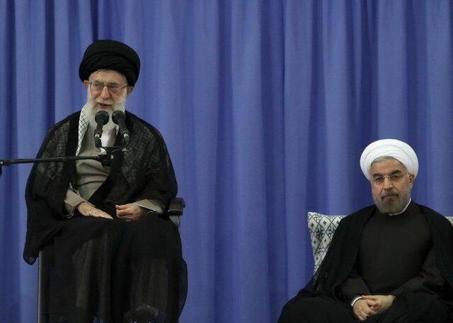 علی خامنهای و حسن روحانی