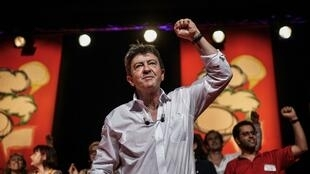 Left Front leader Jean-Luc Mélenchon at a meeting of his Parti de Gauche this weekend