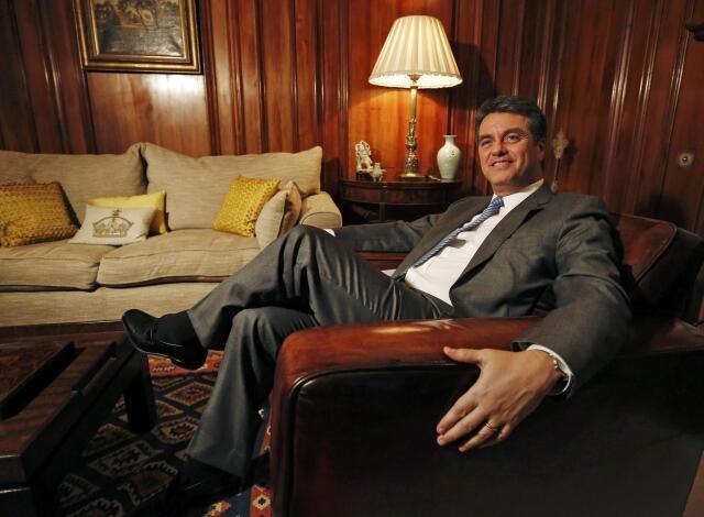 Roberto Azevêdo , novo diretor-geral da OMC.
