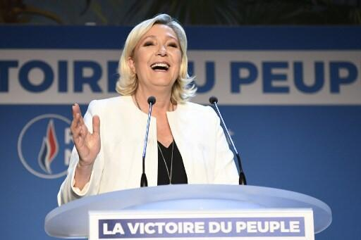 Marine Le Pen saiu fortalecida das eleições europeias.