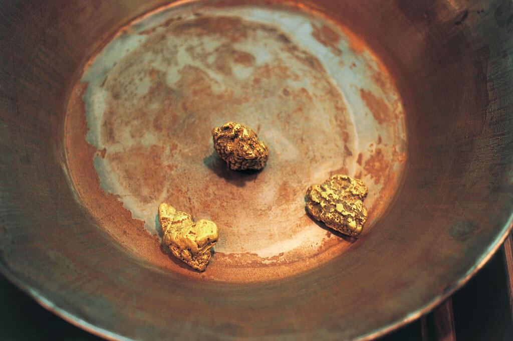 Des pépites d'or .