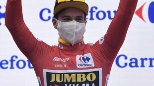 Le Slovène Primoz Roglic, le 20 octobre 2020 lors de la Vuelta.