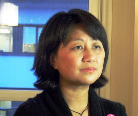 Sài Linh, một trong những lãnh tụ sinh viên Thiên An Môn. Ảnh chụp năm 2010 tại Oslo, Na Uy.