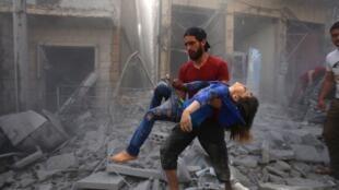 Luguden wutar da Sojin Rasha da Syria ke yi a yankin Idlib.