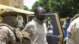 Le colonel Assimi Goïta à Bamako. Le 24 aout 2020.