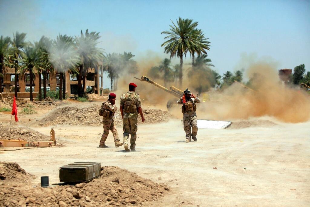 Mayakan Iraqi suna harba makamai kan yankunan da mayakan sa kai suka karbe
