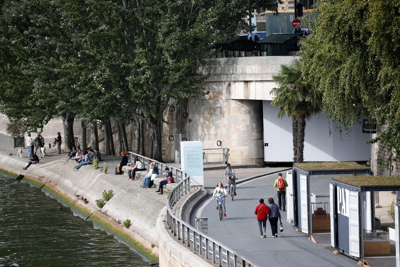 Mais de 3km da marginal direita do rio Sena serão entregues a pedestres e ciclistas, entre a praça da Concordia e o cais Henri IV.