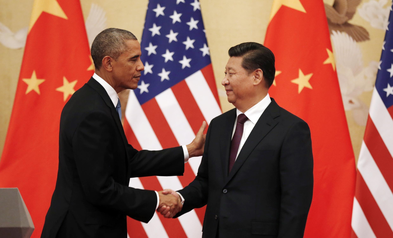 Os presidentes dos EUA e da China, Barack Obama e Xi Jinping, se encontraram em Pequim.